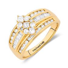 Online Exclusive - Engagement Ring with 0.95 Carat TW of Diamonds in 14kt Yellow Gold