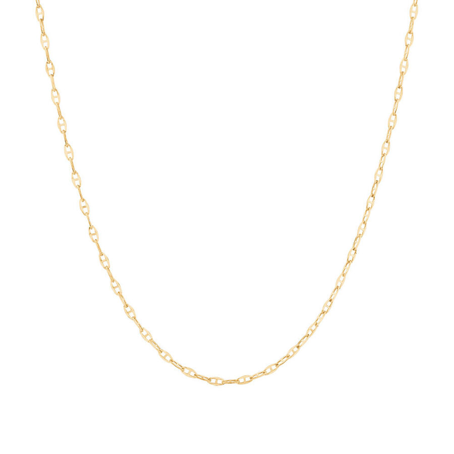 "50cm (20"") Hollow Fancy Chain in 10kt Yellow Gold"