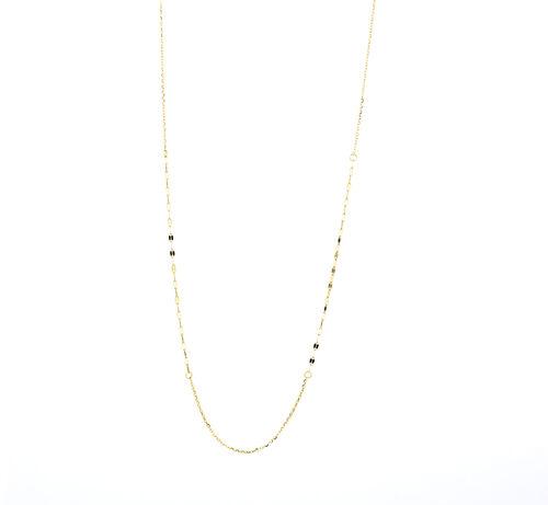 40cm Mirror Chain in 10kt Yellow Gold