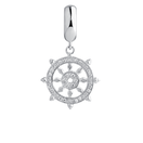 Cubic Zirconia & Sterling Silver Transformation Dangle Charm