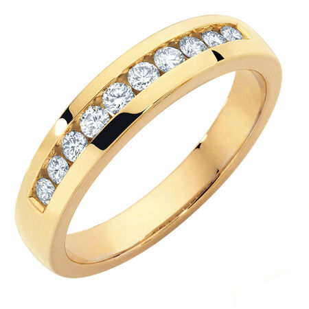 Wedding Band with 1/2 Carat TW of Diamonds in 10kt Yellow Gold