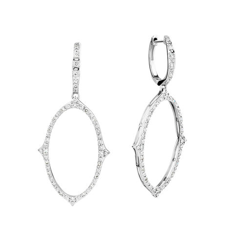 Diamond Earrings with 0.34 Carat TW of Diamonds in 10kt White Gold