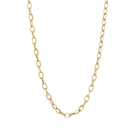 Oval Rolo Chain in 10kt Yellow Gold