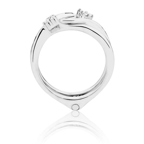 Enhancer Ring with Diamonds in 14kt White Gold