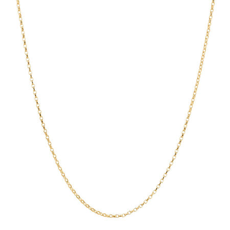 "50cm (20"") Diamond Cut Rolo Chain in 18kt Yellow Gold"