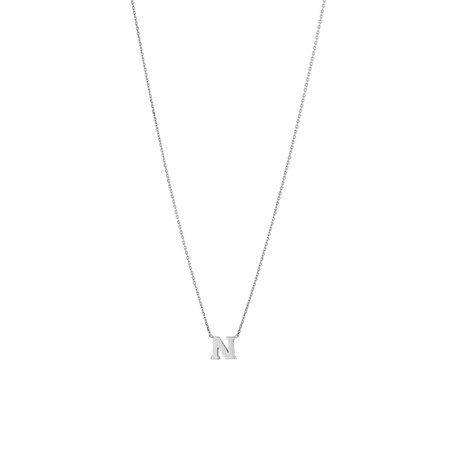 'N' Initial Necklace in Sterling Silver