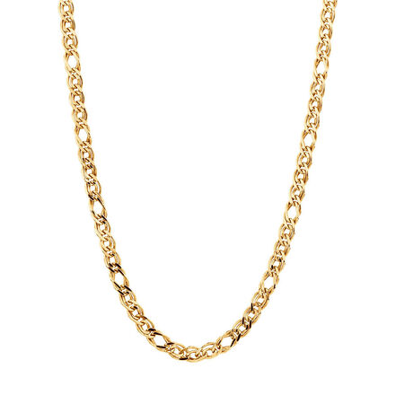 """45cm (18"""") Double Oval Curb Chain in 10kt Yellow Gold"""