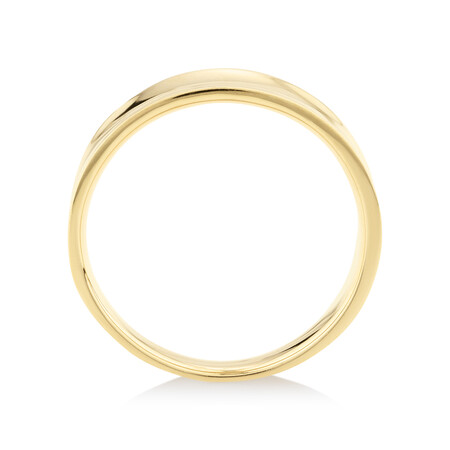 Concave Ring in 10ct Yellow Gold