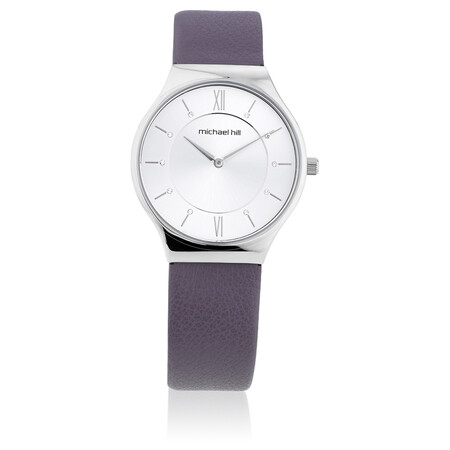 Ladies' Watch in Stainless Steel & Purple Leather