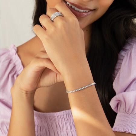 Tennis Bracelet with 1 Carat TW of Diamonds in 14kt White Gold