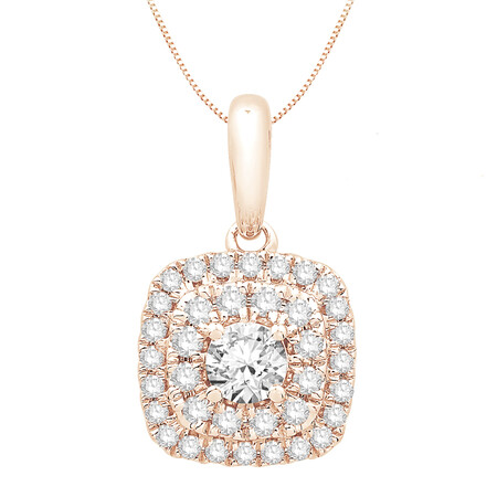 Pendant with 0.34 Carat TW of Diamonds in 10kt Rose Gold