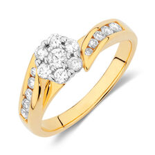 Engagement Ring with 1/2 Carat TW of Diamonds in 18kt Yellow & White Gold