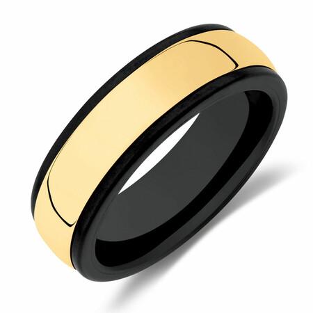 Ring in Black Titanium & 10kt Yellow Gold