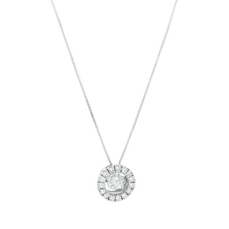 Everlight Pendant with 1 Carat Of Diamonds in 14kt