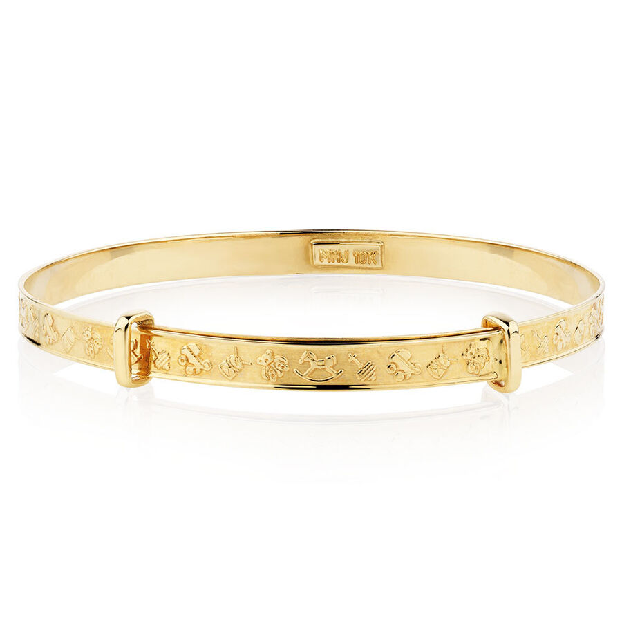 Expandable Baby Bangle in 10kt Yellow Gold