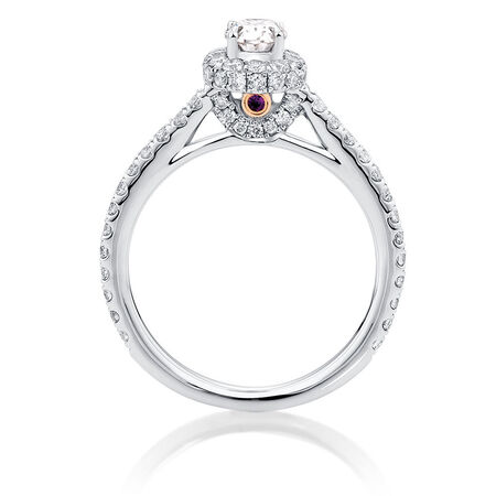 Sir Michael Hill Designer GrandAllegro Engagement Ring with 1 1/4 Carat TW of Diamonds in 14kt White Gold