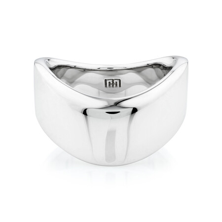 Sculpture Pointed Ring in Sterling Silver