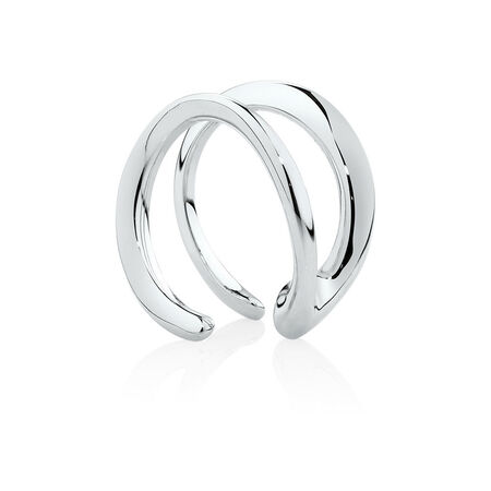 Mark Hill Cuff Earrings in Sterling Silver
