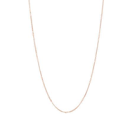 "45cm (18"") Fancy Link Chain in 10kt Rose Gold"