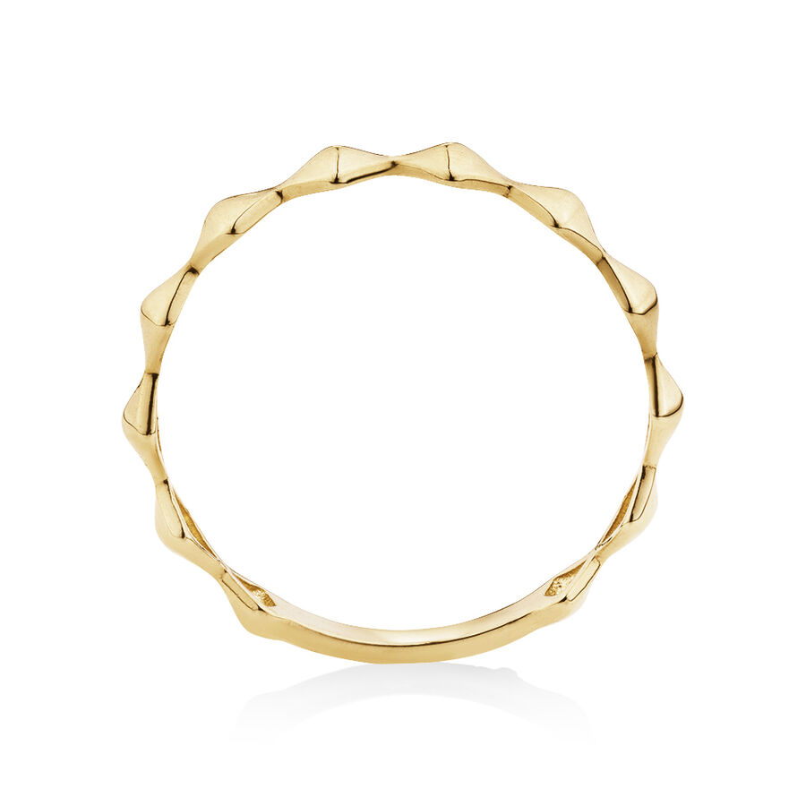 Edge Ring in 10kt Yellow Gold