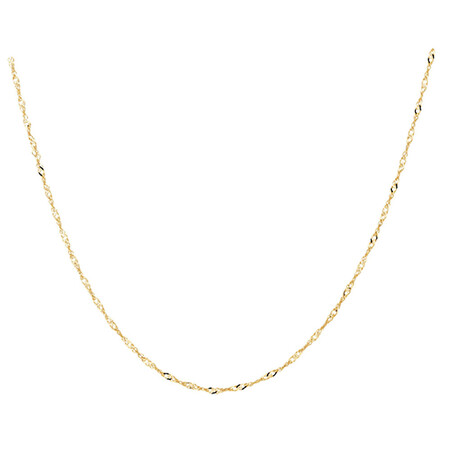 "50cm (20"") Singapore Chain in 10kt Yellow Gold"