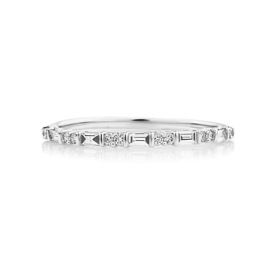 Evermore Wedding Band with 0.20 Carat TW of Diamonds in 10kt White Gold