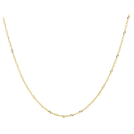 """50cm (20"""") Singapore Chain in 10kt Yellow Gold"""