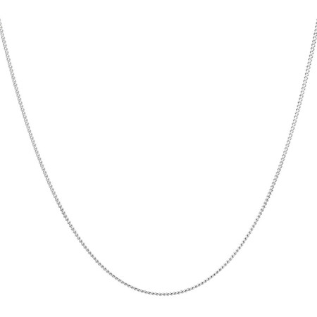"""60cm (24"""") Curb Chain in 10kt White Gold"""