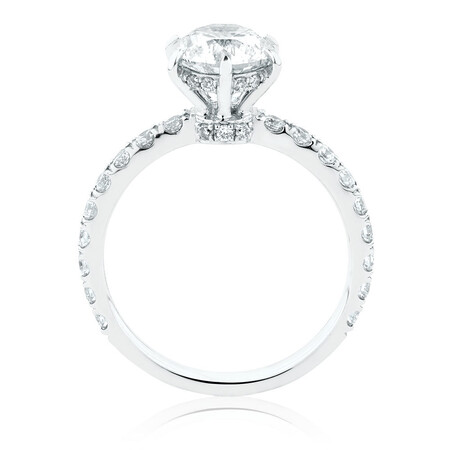 Sir Michael Hill Designer GrandAria Engagement Ring With 2.02 Carat TW Of Diamonds In 14ct White & Rose Gold