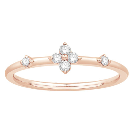 Stacker Ring with 0.12 Carat TW of Diamonds in 10kt Rose Gold
