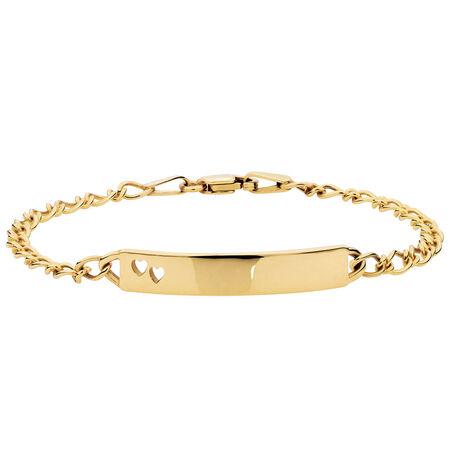 "14cm (6"") Baby Identity Bracelet in 10kt Yellow Gold"