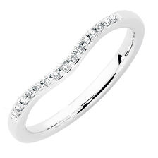 Wedding Band with Diamonds in 18kt White Gold