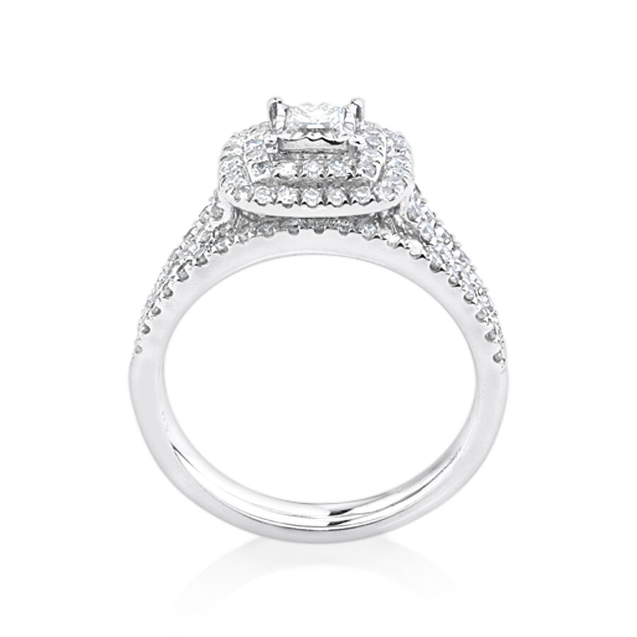 Bridal with 1 Carat TW of Diamonds in 14kt White Gold