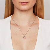 Everlight Pendant with 0.33 Carat TW of Diamonds in 10kt White & Rose Gold