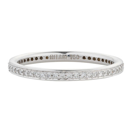 Online Exclusive - Wedding Band with 0.23 Carat TW of Diamonds in 18kt White Gold