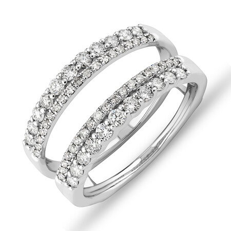 Enhancer Ring with 0.70 Carat TW of Diamonds in 14kt White Gold