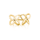 Petal Stud Earrings in 10kt Yellow Gold
