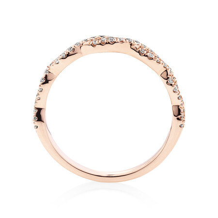 Evermore Twist Wedding Band with 0.20 Carat TW of Diamonds in 10kt Rose Gold