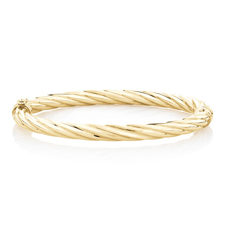 Twist Bangle in 10kt Yellow Gold