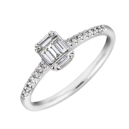 Ring with 0.31 Carat TW of Diamonds in 10kt White Gold
