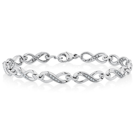 Bracelet with 0.16 Carat TW of Diamonds in Sterling Silver
