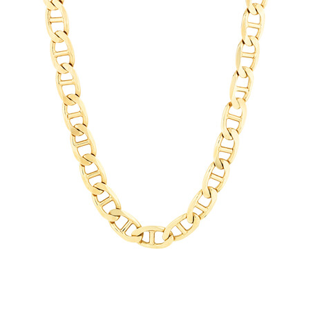 """55cm (22"""") Bevilled Anchor Chain in 10kt Yellow Gold"""