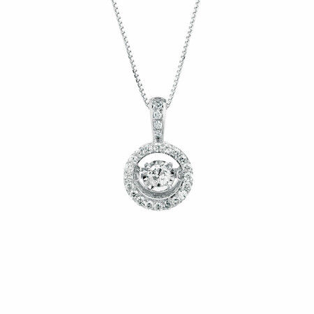 Everlight Pendant with 0.33 Carat TW of Diamonds in 10kt White Gold