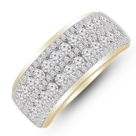 Ring with 1 Carat TW of Diamonds in 14kt Yellow Gold