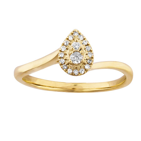 Ring with 0.10 Carat TW of Diamonds in 10kt Yellow Gold
