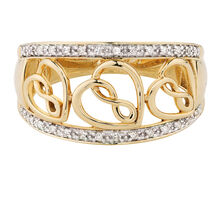 Infinitas Ring with Diamonds in 10kt Yellow Gold