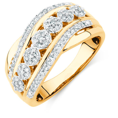 Ring with 0.33 Carat TW of Diamonds in 10kt Yellow Gold