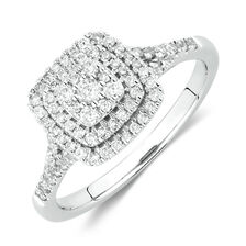 Engagement Ring With 1 2 Carat TW Of Diamonds In 10kt White Gold