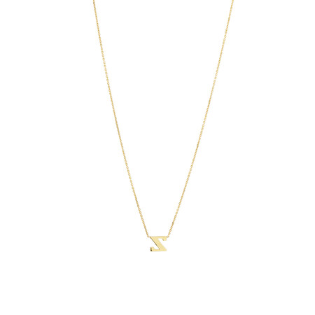 """""""Z"""" Initial Necklace in 10kt Yellow Gold"""
