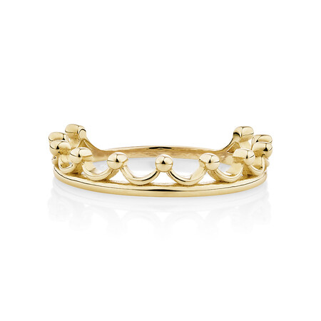 Crown Ring 10kt Yellow Gold
